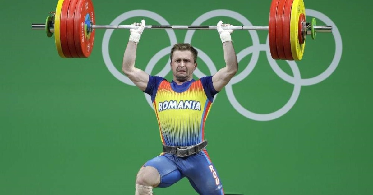 Gabriel Sincraian, who tested positive in a doping test, competing in the 2016 Summer Olympics, Aug. 12, 2016. (AP Photo)