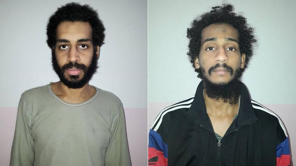 Alexanda Kotey and Shafee El Sheikh, members of a group of Daesh terrorists known as the the ,Beatles,. (Reuters Photo)