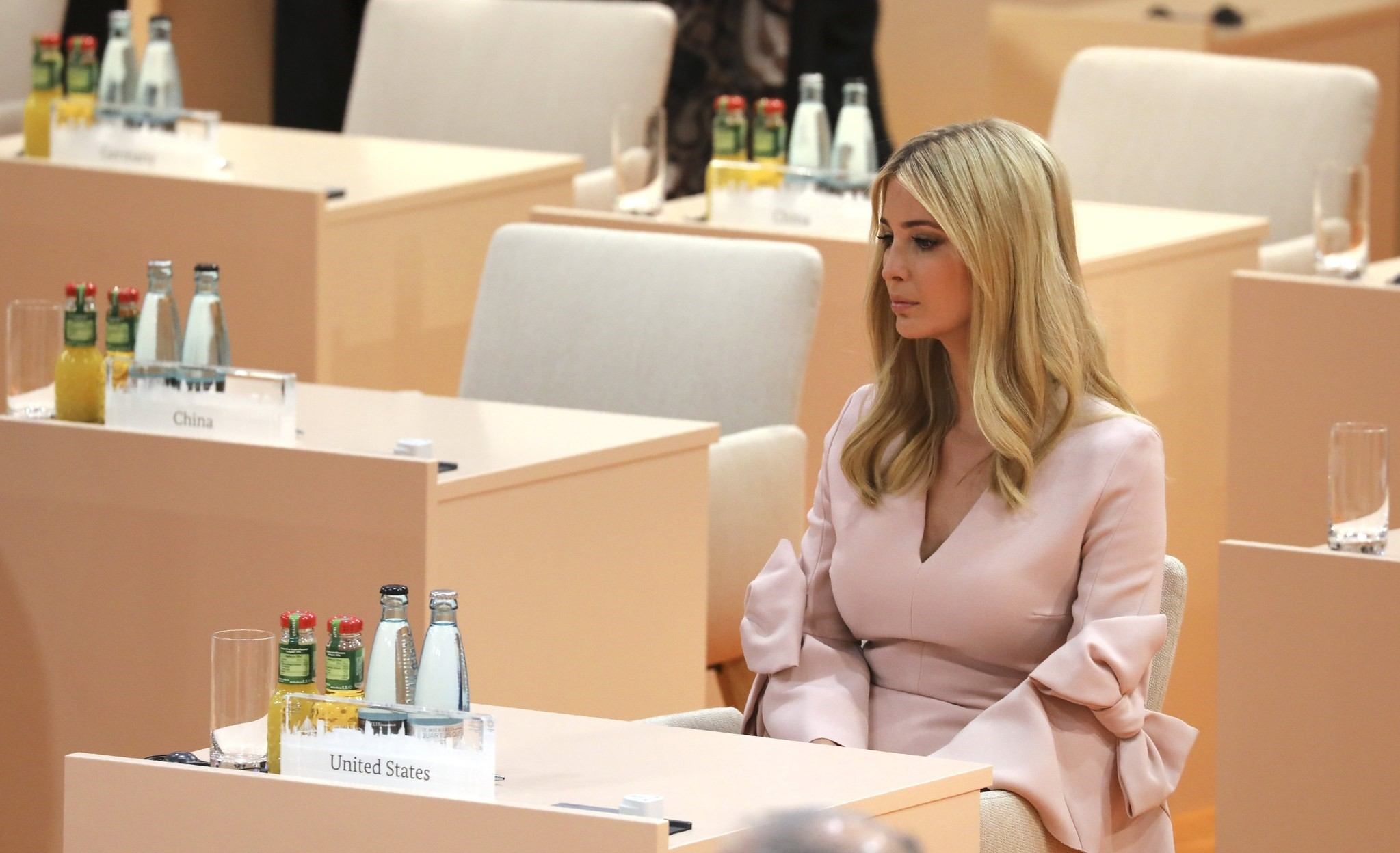 Ivanka Trump, daughter and personal adviser of US President Donald J. Trump, sits at her seat at the beginning of the third working session on the second day of the G20 summit in Hamburg, Germany, 08 July 2017. (EPA Photo)