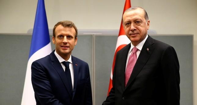 Erdoğan, Macron discuss economic relations