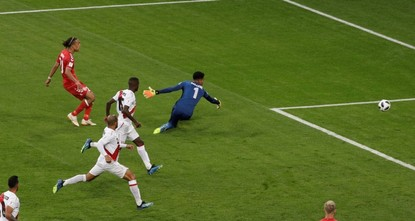 Poulsen goal leads Denmark to victory over Peru