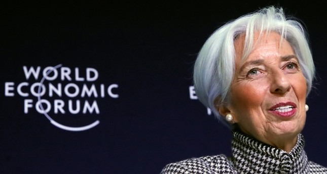 International Monetary Fund (IMF) Managing Director Christine Lagarde attends a news conference ahead of inauguration of World Economic Forum (WEF) in Davos, Switzerland, January 21, 2019. (Reuters Photo)