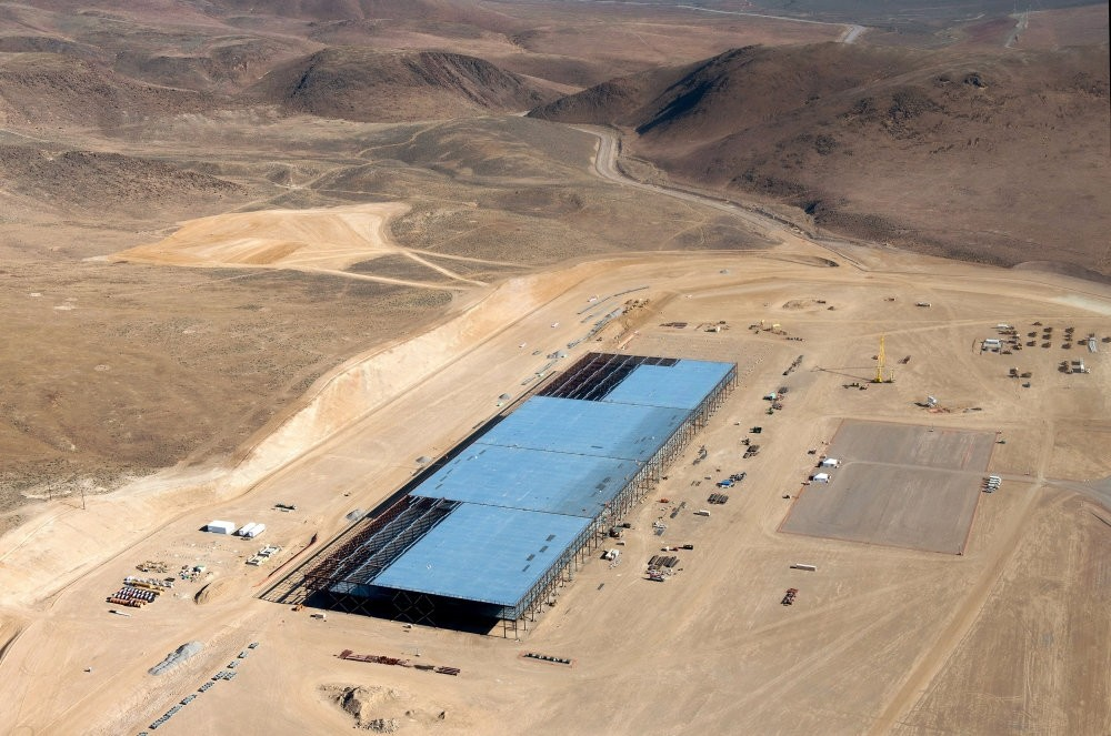 The Tesla Gigafactory is shown under construction outside Reno, Nevada May 9, 2015.