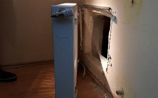 A secret compartment found in the operation. (DHA Photo)