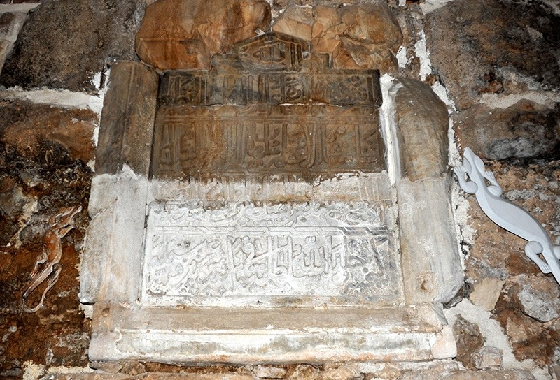 The lost tablet of Seljuk Sultan Kayqubad I found in Turkey's Antalya province (AA Photo)