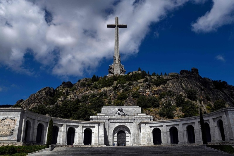 Valle de los Caidos (The Valley of the Fallen), a monument to the Francoist combatants who died during the Spanish civil war and Franco's final resting place, July 03, 2018. (EPA Photo)