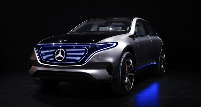 The Mercedes-Benz Concept EQ is on display at the North American International Auto Show in Detroit, Monday, Jan. 9, 2017. (AP Photo)