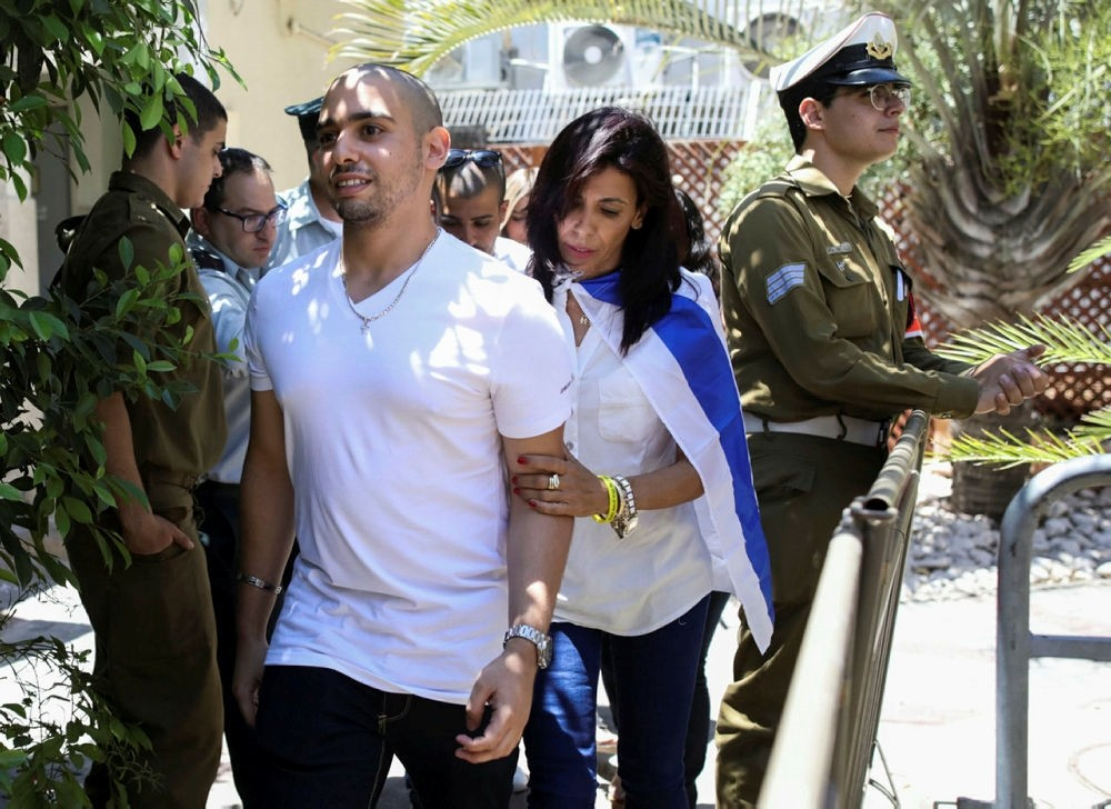 Elor Azaria, who was convicted of manslaughter and sentenced to 18 months imprisonment for killing a wounded and a Palestinian in Tel Aviv, Israel July 30, 2017. (REUTERS Photo)