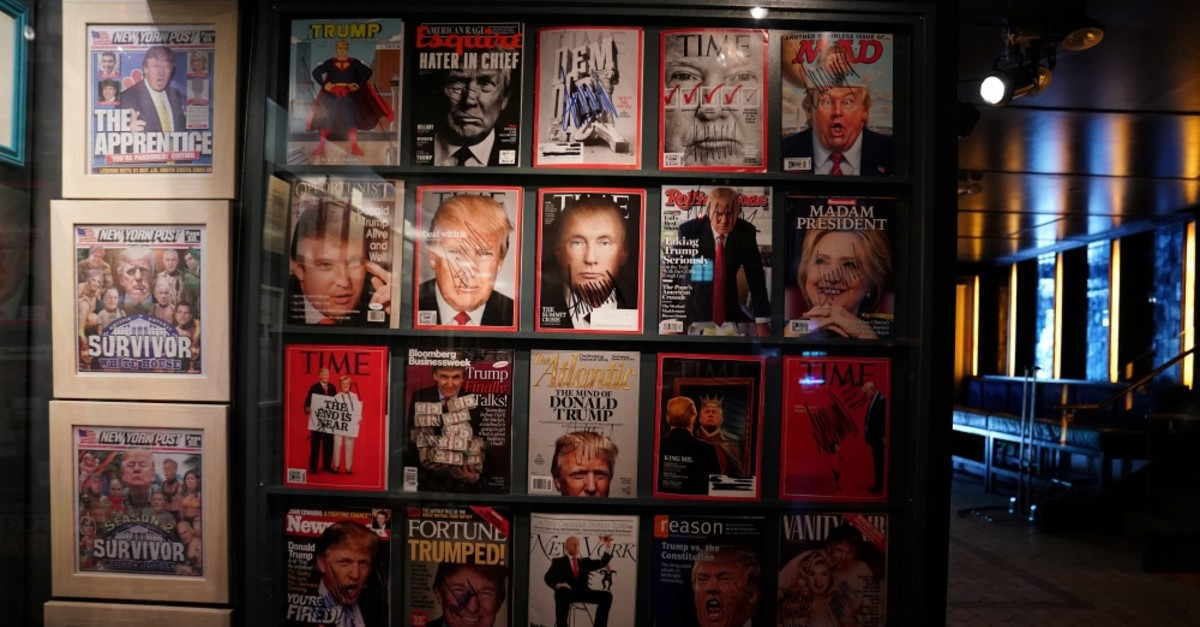 Artist-provocateur Andres Serrano's takes on U.S. President Donald Trump with a new exhibit called ,The Game: All Things Trump, in New York, U.S., April 25, 2019.