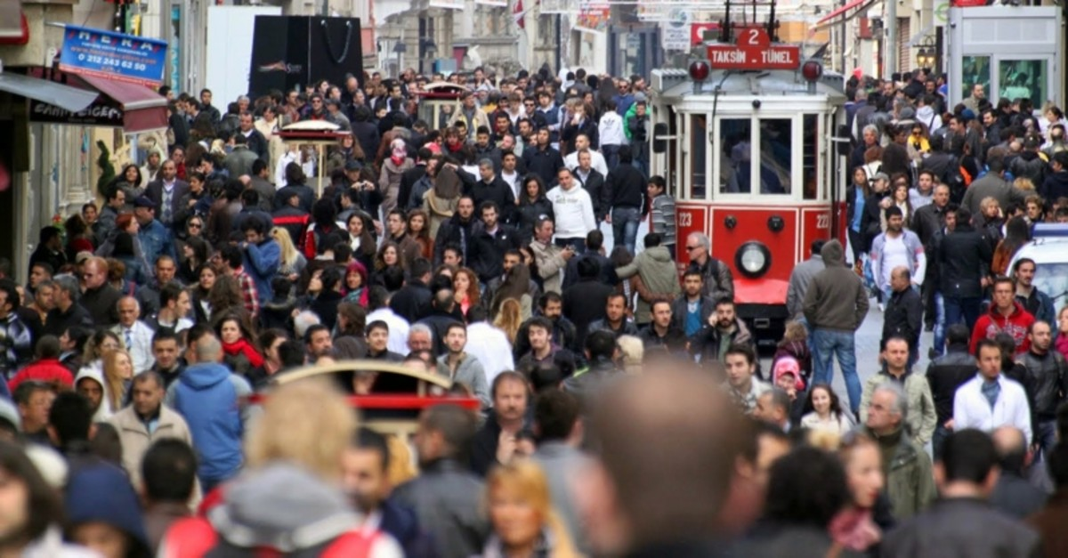 This file photo shows the bust Istiklal Street in Beyou011flu district of Istanbul.