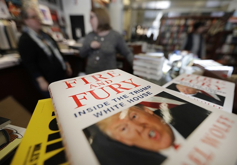 Copies of the book ,Fire and Fury: Inside the Trump White House, by Michael Wolff are displayed at Barbara's Books Store, Friday, Jan. 5, 2018, in Chicago. (AP Photo)