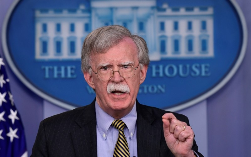 National Security Adviser John Bolton speaks during a briefing at the White House in Washington, Wednesday, Oct. 3, 2018. (AP Photo)
