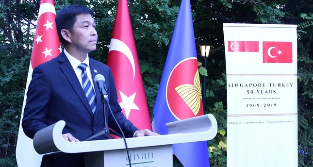 Singapore's Speaker of Parliament Tan Chuan-Jin celebrated the 50th anniversary of Turkey-Singapore diplomatic relations in Ankara, June 24, 2019.