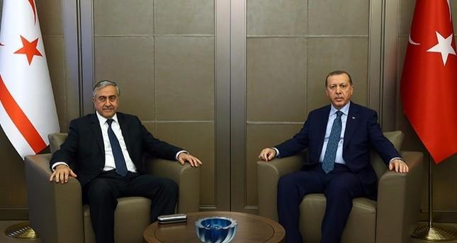 أردوغان يستقبل رئيس جمهورية شمال قبرص التركية في إسطنبول