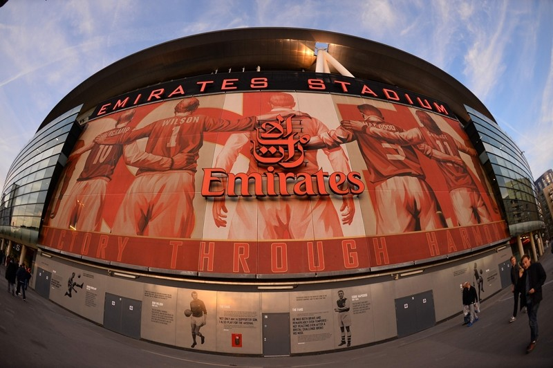 In this file photo taken on September 29, 2015 A picture shows the outside of The Emirates Stadium in north London (AFP Photo)