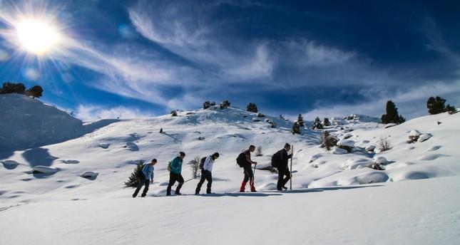 Snow-covered Giden Gelmez Mountains call on adventurers