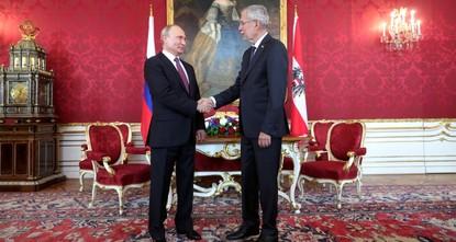 Путин встретился в Вене с президентом Австрии