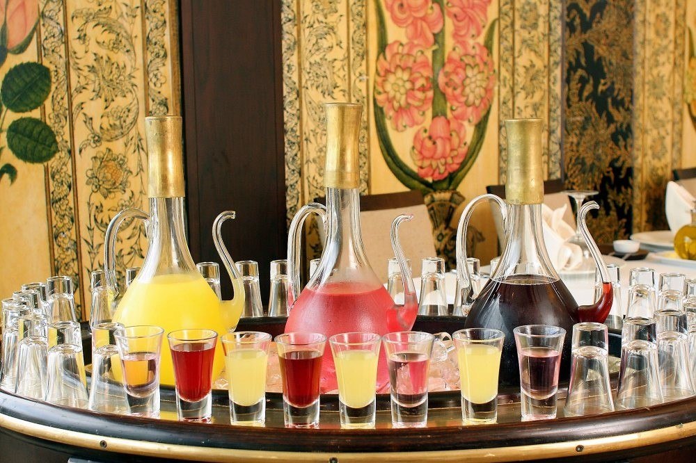 Turkish cuisine offers a wide variety of sherbet.