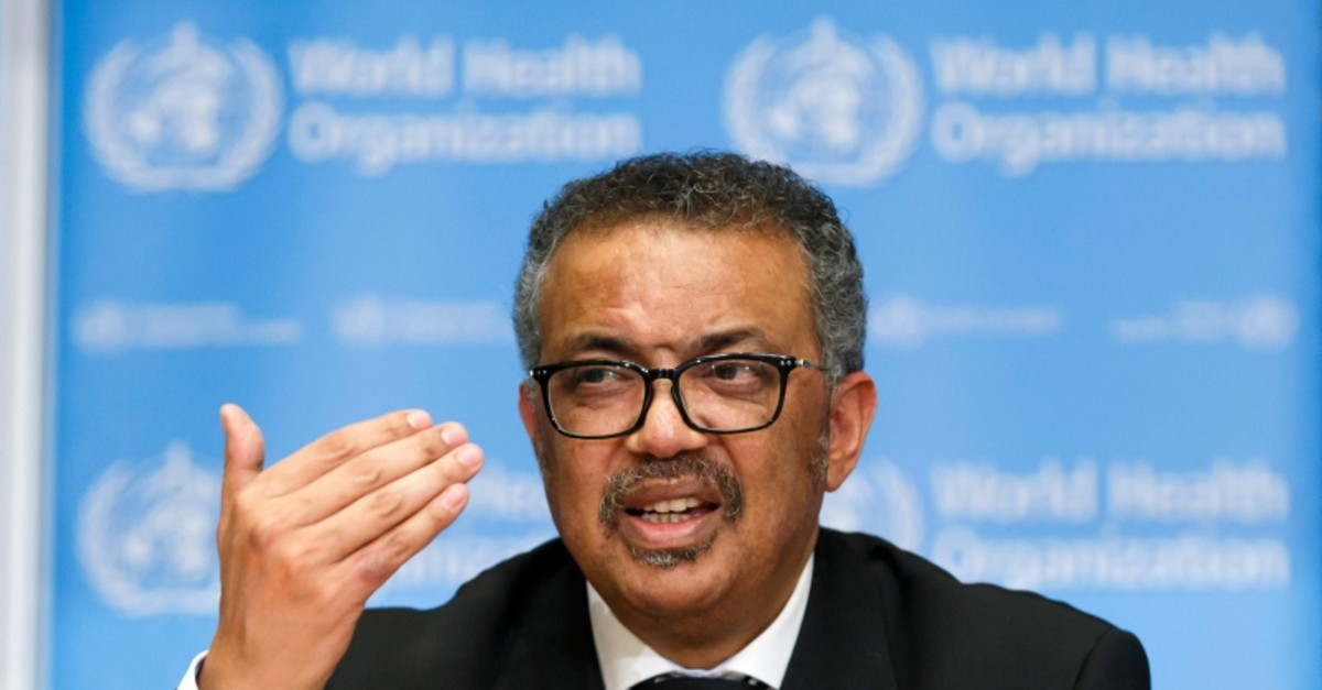 Tedros Adhanom Ghebreyesus, Director General of the World Health Organization (WHO), addresses the media during a press conference at the World Health Organization (WHO) headquarters in Geneva, Switzerland (Salvatore Di Nolfi/Keystone via AP)