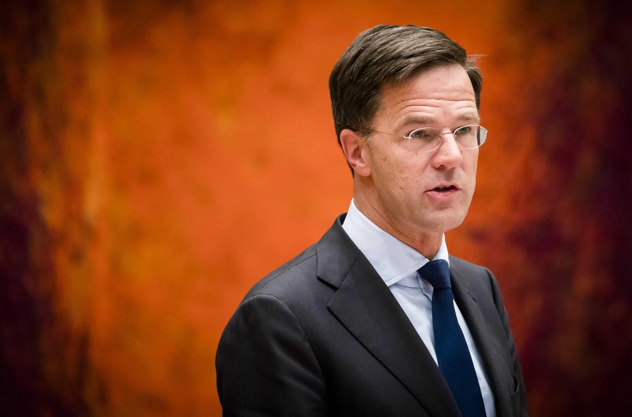 Dutch Prime Minister Mark Rutte speaks during a debate in the Dutch parliament in The Hague, December 13, 2017. (EPA Photo)