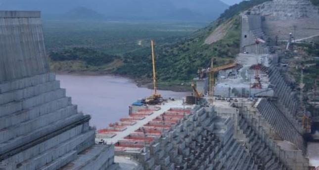 Ethiopia's Grand Renaissance Dam is seen as it undergoes construction work on the river Nile, Guba Woreda, Sept. 26, 2019. (REUTERS Photo)