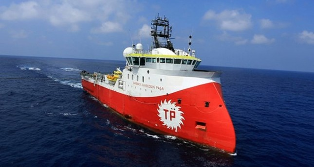 Turkey's seismic vessel Barbaros Hayreddin Paşa has been conducting surveys in the Mediterranean as Turkish Petroleum holds exploration rights for a period of 30 years.
