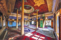 Mosque with Ottoman flag defies time