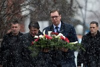 Serbia's Vucic visits Kosovo after murder of politician
