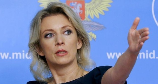 Spokeswoman of the Russian Foreign Ministry Maria Zakharova gestures as she attends a news briefing in Moscow, Russia, October 6, 2015. (REUTERS Photo)