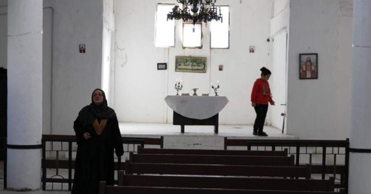 The Armenian church renovated by Turkey in Syria's Tal Abyad (IHA Photo)