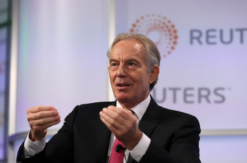 Britain's former Prime Minister Tony Blair attends an event at Thomson Reuters in London, Britain, October 11, 2018. (REUTERS Photo)