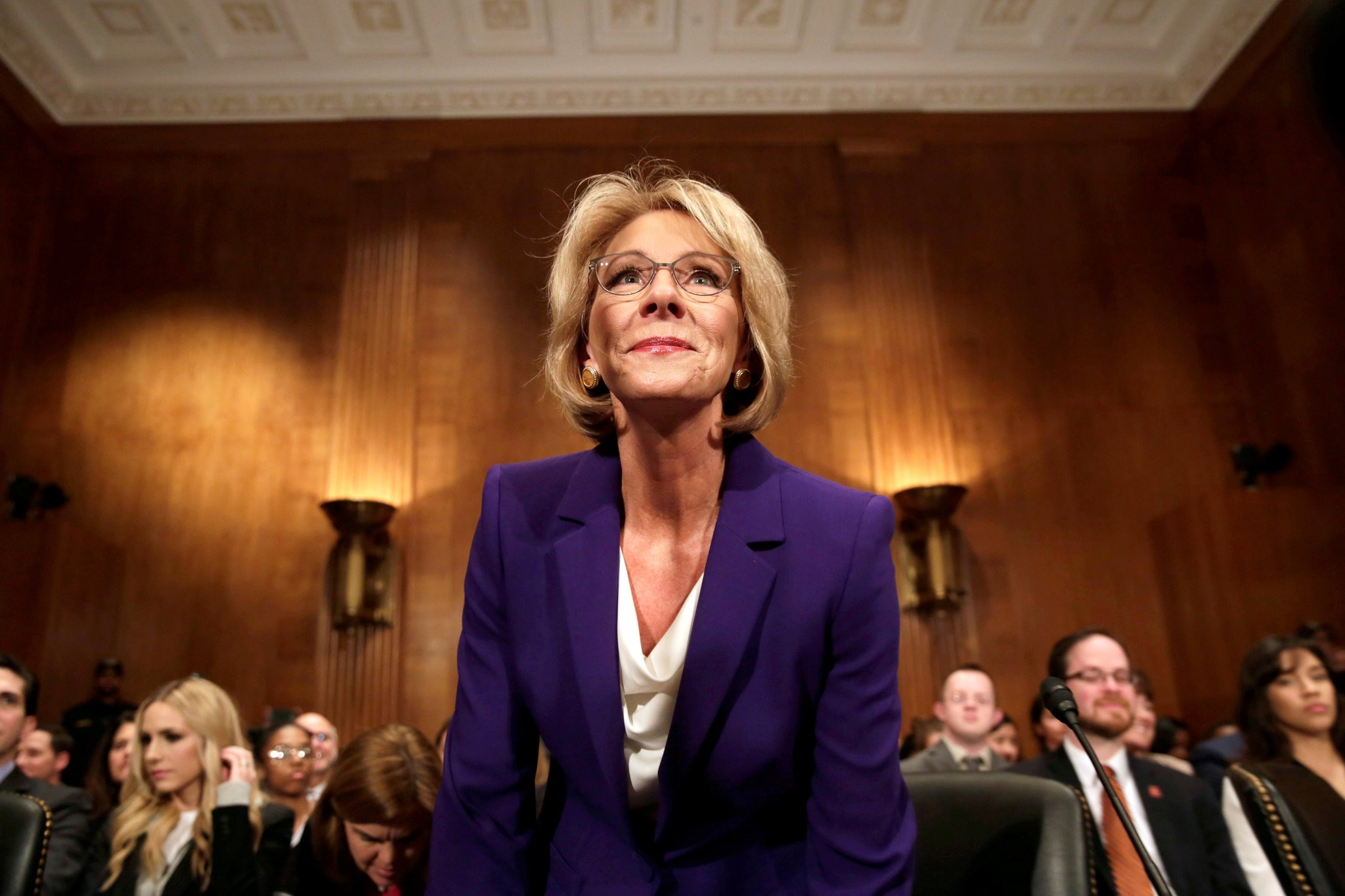 Betsy DeVos arrives at the Senate confirmation hearing to be next Secretary of Education on Capitol Hill in Washington, U.S., January 17, 2017. (REUTERS Photo)
