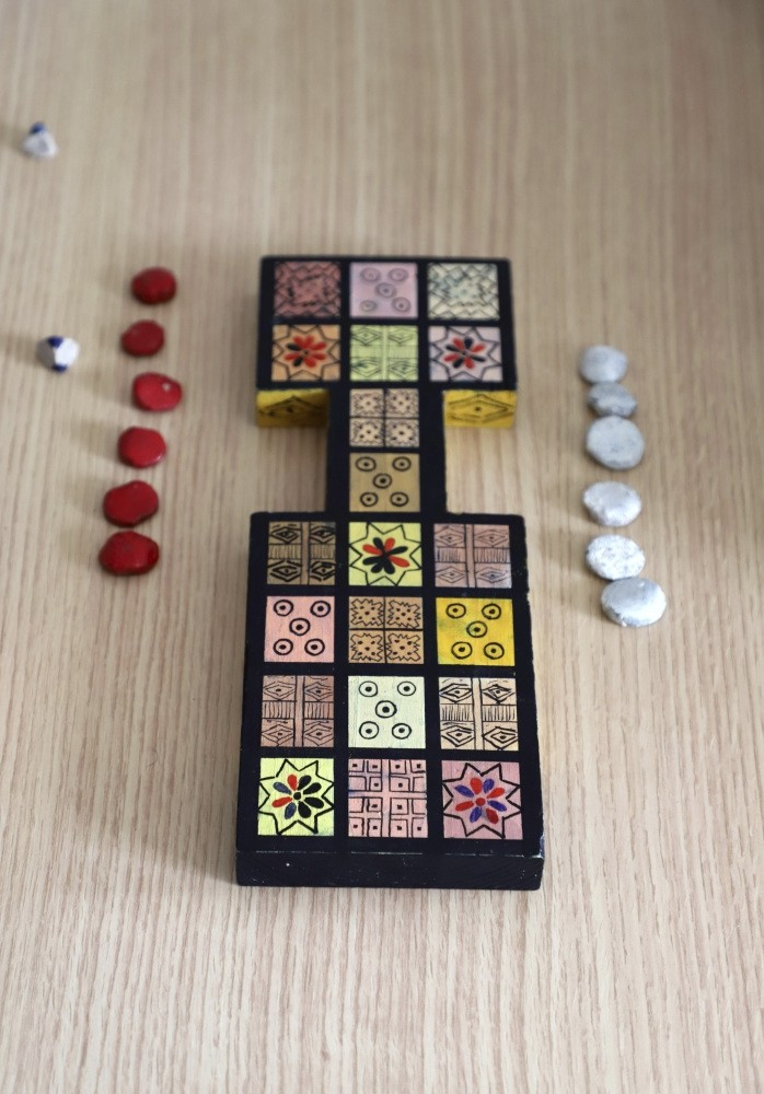 An ancient board game, known as the Royal Game of Ur, is seen in the northern Iraqi city of Raniey.