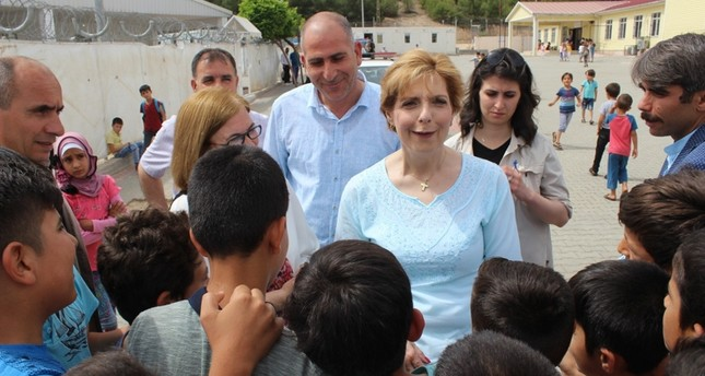 Romania's Princess Marie visits Syrians in SE Turkey