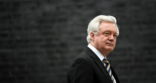 Britain's Secretary of State for Exiting the European Union David Davis leaves 10 Downing Street, London, Jan. 29, 2018. (Reuters Photo)