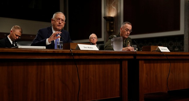 U.S. Secretary of Defense James Mattis testifies before a Senate Armed Services Committee hearing on Capitol Hill in Washington, U.S., October 3, 2017. (REUTERS Photo)