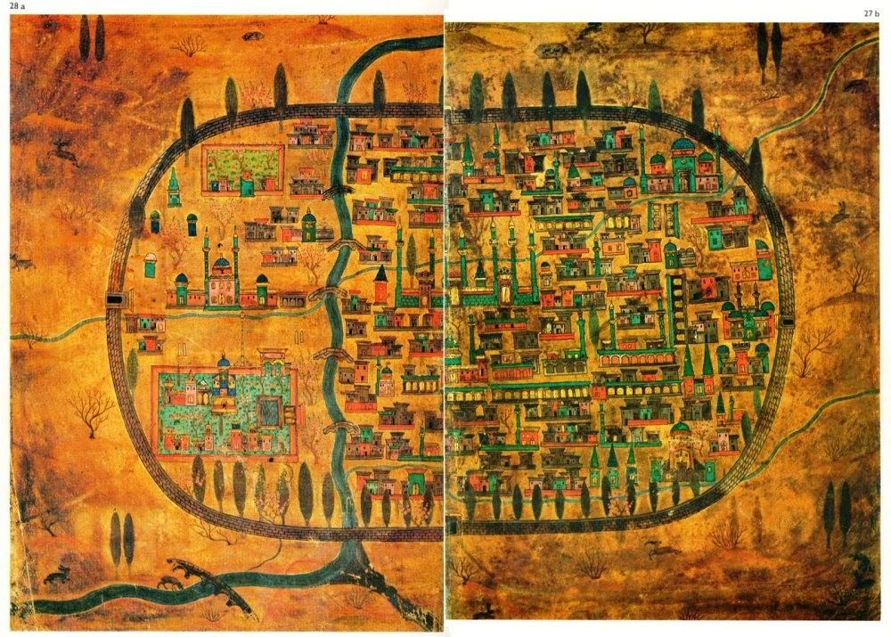 Miniature by Matraku00e7u0131 Nasuh depicting Tabriz.(AA Photo)