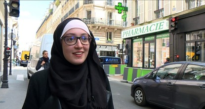 French interior minister 'shocked' over student union rep. wearing headscarf