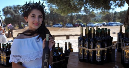 pHalf a liter of olive oil produced from a 1,800-year-old olive tree sold for 22,000 Turkish lira ($6,046) in the ancient city of Teos in Izmir's Seferihisar district in western Turkey./p