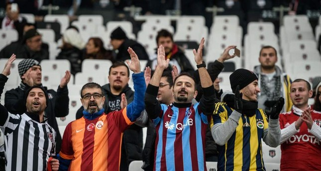 Beşiktas, Fenerbahçe, Galatasaray and Trabzon's supporters cheer at the Vodafone Arena  Stadium. Football matches are one of the most popular subjects among Turkish Facebook users.