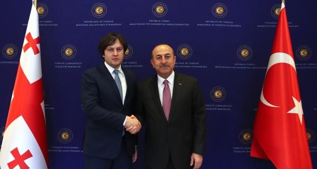 تشاوش أوغلو يلتقي رئيس البرلمان الجورجي