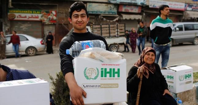 هيئة الإغاثة التركية قدمت مساعدات لـ 150 ألف مدني بعفرين منذ تحريرها