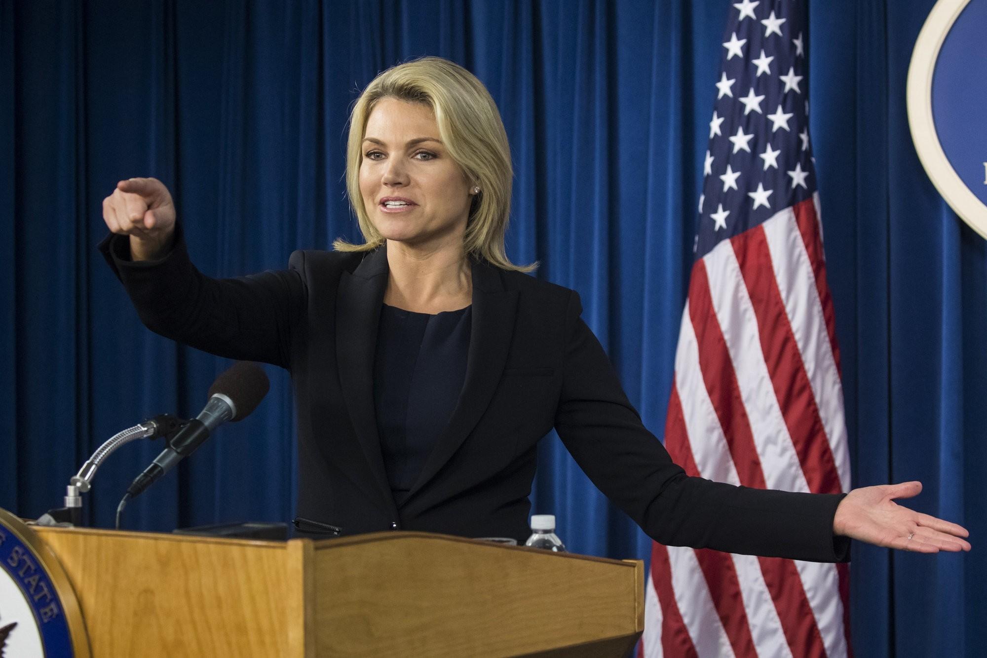 File Photo of U.S. Department of State spokeswoman Heather Nauert