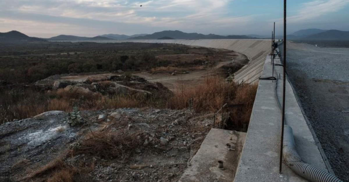 A general view of the Saddle Dam, part of the Grand Ethiopian Renaissance Dam (GERD), near Guba in Ethiopia, Dec. 27, 2019. (AFP Photo)