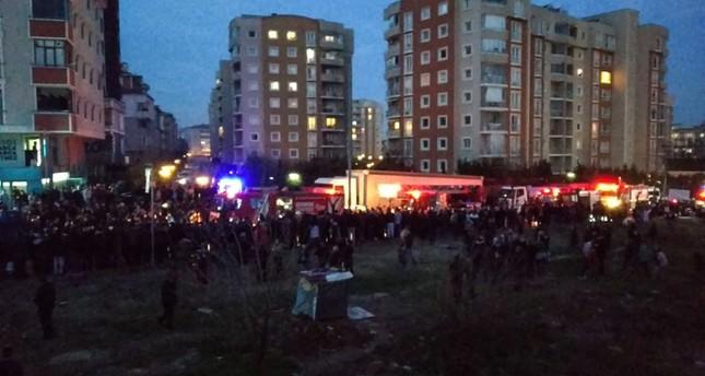 موقع سقوط المروحية شرقي إسطنبول
