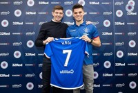 Gerrard hails Hagi's son on first Rangers game