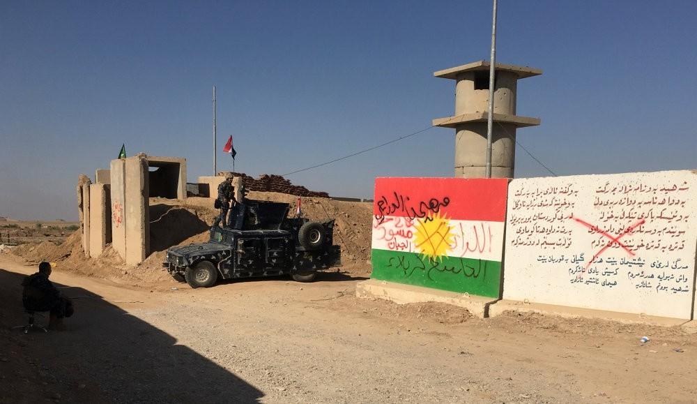 Iraqi troops near the oil fields in Kirkuk, Iraq, Oct.16.