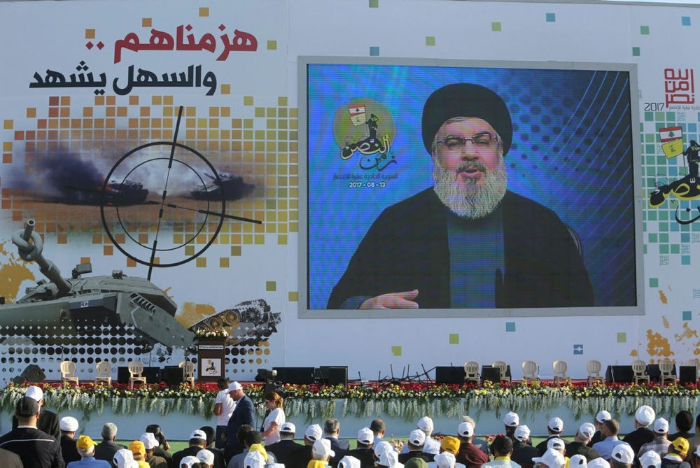 Nasrallah speaks during a rally marking the 11th anniversary of the end of Hezbollah's 2006 war with Israel, in the southern village of Khiam, Lebanon August 13, 2017. (REUTERS Photo)