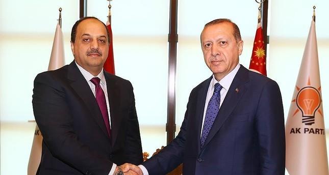 أردوغان يستقبل وزير الدولة القطري لشؤون الدفاع