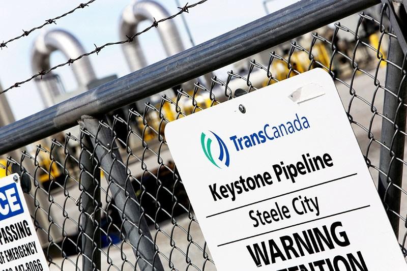 A TransCanada Keystone Pipeline pump station operates outside Steele City, Nebraska March 10, 2014. (Reuters Photo)